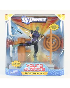 "DC UNIVERSE Young Justice SPORTSMASTER 6"" deluxe action figure toy - NEW!"