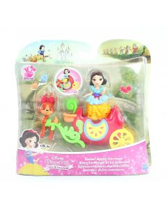 DISNEY PRINCESS doll SNOW WHITE Sweet Apple Carriage Little Kingdom toy - NEW!