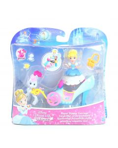 DISNEY PRINCESS doll CINDERELLA Royal Slipper Carriage Little Kingdom toy - NEW!