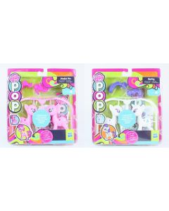 MY LITTLE PONY pop set of 2 RARITY + PINKIE PIE design create craft toys - NEW!
