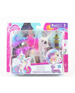 "My Little Pony PRINCESS CELESTIA Sparkle Bright 4"" toy action figure - NEW!"