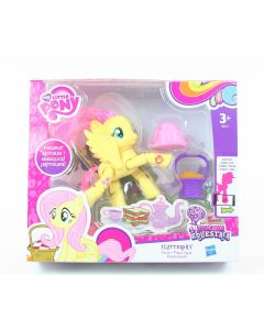 "MY LITTLE PONY equestria FLUTTERSHY 3"" poseable picnic action figure toy - NEW!"
