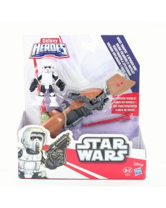 STAR WARS Galaxy Heroes SCOUT TROOPER & SPEEDER BIKE playset Playskool toy - NEW