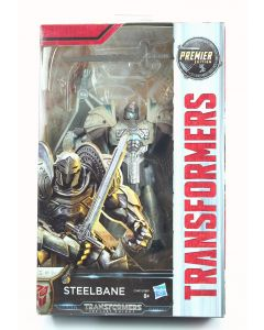 """TRANSFORMERS The Last Knight STEELBANE 5"""" Premier Deluxe action figure toy - NEW"""