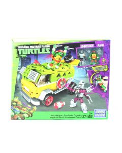 Teenage Mutant Ninja Turtles PARTY WAGON Mega Bloks playset Raphael Shredder - NEW!