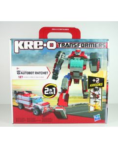 TRANSFORMERS - RATCHET AMBULANCE - KRE-O - TOY ROBOT KREO BRICKS - NEW!