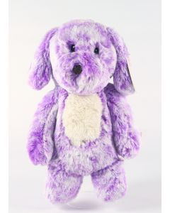 "AURORA SMITTIES cuddly purple DOG 11"" plush soft toy newborn baby doggy - NEW!"