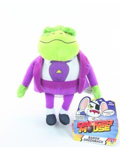 "DANGER MOUSE plush BARON GREENBACK 7"" talking soft toy dangermouse CBBC - NEW!"