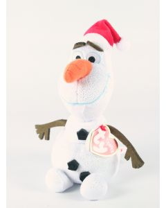 "Disney Frozen OLAF the SNOWMAN santa hat 8"" ty beanie baby plush soft toy - NEW!"