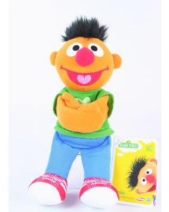 "Sesame Street ERNIE 9"" plush soft toy Hugs Forever Friends Hasbro Playskool NEW!"