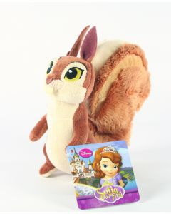 "SOFIA THE FIRST squirrel WHATNAUGHT 6"" soft plush toy Disney Junior - NEW!"