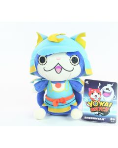 "YO-KAI WATCH plush SHOGUNYAN 8"" soft toy samurai cat game - NEW!"