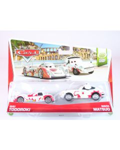 DISNEY CARS World Grand Prix 2 pack SHU TODOROKI + MACH MATSUO 1:55 diecast toys