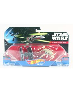 STAR WARS starships TIE FIGHTER vs RED-2 X-WING FIGHTER hot wheels 2 pack - NEW!