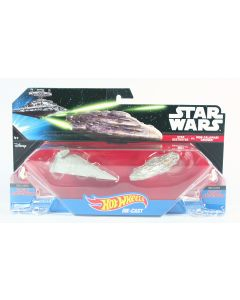 STAR WARS starships STAR DESTROYER vs MON CALAMARI CRUISER hot wheels 2 pack NEW