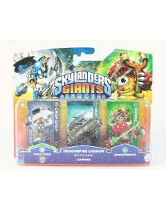 SKYLANDERS Giants Dragonfire Cannon Battle Pack CHOP CHOP SHROOMBOOM toys - NEW!